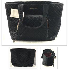 Adrienne Vittadini Diamond Quilted Velvet Bag